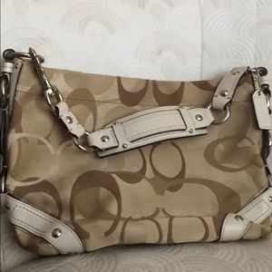Classic canvas and leather Coach NWOT
